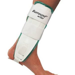 Gel Ankle Support Surround® Medium Hook and Loop Closure Left or Right Foot