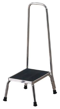 Cool Step Stool With Handrail Entrust Performance 1 Step Chrome Plated Steel 8 3 4 Inch Alphanode Cool Chair Designs And Ideas Alphanodeonline