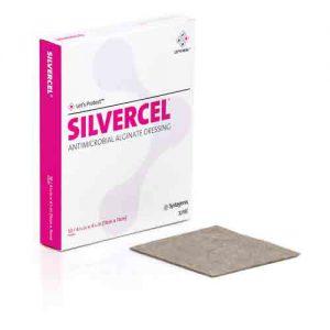 SilverCel Alginate Dressing 4-1/; x 4-1/