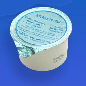 USP Sterile Water – 120 mL Foil Lid Cup – 48 EA per CA