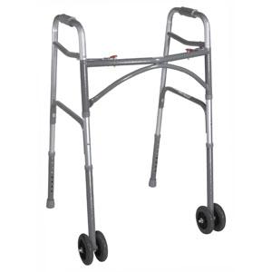 Bariatric Aluminum Adult 2-Button Folding Walker